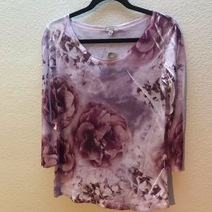 Cache Floral Top NWT